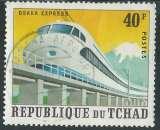 miniature République Du Tchad - Y&T 260B (o) - Locomotive -