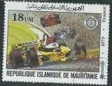 miniature Mauritanie - Y&T 0494 (o) - Course automobile -