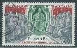FRANCE 1968 Y&T 1577 oblitéré - Philippe Le Bel , Etats Généraux de 1302