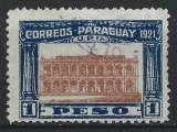 Paraguay - 1922 - Y & T n° 230 - Cinquantenaire de la Constitution - Le Parlement - O.