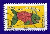 miniature France 2015 - Autoadhésif Y&T 1165 (o) - dicton rire comme une baleine