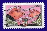 miniature France 2015 - Autoadhésif Y&T 1169 (o) - dicton donner de la confiture aux cochons