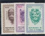 miniature COTE D'IVOIRE n° 181-182-183 neufs *