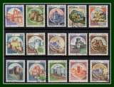 miniature Italie 15 timbres série Châteaux obl. TB