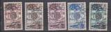 miniature TUNISIE                      N°  390/394     ( 5 )     OBLITERE             ( 11/16 )