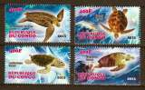 miniature Série De Timbres Neufs ** Mnh - Congo 2013 - Tortues Marines Sea Turtles
