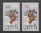 miniature PAIRE NEUVE DE LITUANIE - CONQUETE DE L´EVEREST N° Y&T 415/416