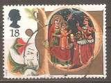 miniature Grande Bretagne 1991 YT 1574 Obl Noel Adoration des mages