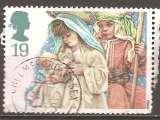 miniature Grande Bretagne 1994 YT 1784 Obl Noel Sainte Famille