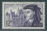 FRANCE 1955 Y&T 1034 oblitéré - Jacques Coeur et son palais de Bourges
