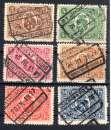 Belgique - Chemin de Fer 1921 - 6 timbres COB CF129 CF130 CF131 CF132 CF133 CF134