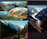 miniature  France Lot de 3 flammes Haute-Savoie Chamonix-Mont Blanc, Argentière sur Cpm