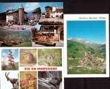 miniature  France Lot de 3 flammes Haute-Savoie La Clusaz, Megève, Orcières Merlette sur Cpm