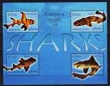 miniature 2004 4 différents requins,  Bloc-Feuilet 3705-3708**