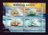 miniature BA4 - Bloc feuillet Neuf ** MNH - Rwanda 2013 - Bateaux Voiliers Sailing ships