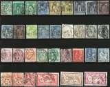 miniature France - Lots de 100 timbres oblitérés entre 1876 et 1924