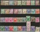 miniature Lot de 36 timbres taxe oblitérés