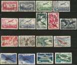 miniature Poste Aérienne - Lot de 45 timbres oblitérés entre 1930 et 2011