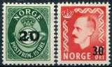 miniature NORVEGE  _  Y & T   :    N°  340-341  **    -   Cote  :   2,00   €