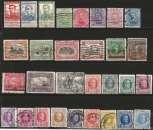 miniature Belgique - Lot de 75 timbres oblitérés entre 1912 et 1934