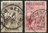 miniature Belgique - Y&T 380 et 381 oblitérés