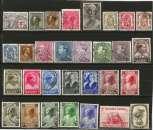 miniature Belgique - Lot de 30 timbres oblitérés entre 1934 et 1938