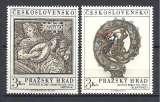 miniature Tchecoslovaquie Y & T N° 1850/51**  Trésors du château de  Prague