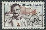 miniature FRANCE 1959 Y&T 1191 oblitéré - Charles de Foucault