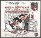 miniature France 1989 FS CNEP 11 ** Salon philatélique Lyon surcharge Bicentenaire