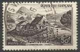 miniature France 1949 843 ° Mont Gerbier de Jonc perforé perfin