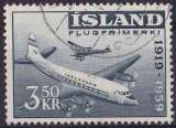 miniature ISLANDE 1959 OBLITERE Poste aérienne N° 30