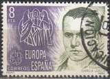 miniature España 1980 Michel 2460 O Cote (2008) 0.20 Euro Europa CEPT Poéte Fredrico Garcia Lorca Cachet rond