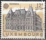 miniature Luxembourg 1990 Michel 1243 O Cote (2008) 0.30 Euro Europa CEPT Hôtel des Postes