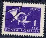 miniature Roumanie 1970 Oblitéré Used Post horn with lightning Corne Postale et Foudre SU