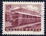 miniature Hongrie 1963 Oblitéré Used Chemins de Fer Locomotive Diesel à la gare de Keszthely SU