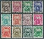 miniature FRANCE Taxe 1946 à 1955 Y&T 78 à 89 Neufs ** - Type gerbes Timbre taxe , série complète