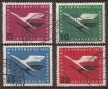 miniature ALLEMAGNE RFA 1955 Scott  Air Post C61 / C64 oblitérés - Lufthansa Emblem