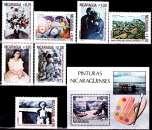 miniature Nicaragua 1222 / 27 + Pa 1007 et Bf 154 Peintures Nicaraguayennes