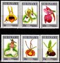 miniature Surinam 934 / 39 Orchidées du Surinam