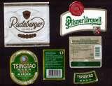 miniature Etiquettes de bière Pilsen Urquell 500 ml - Radebergen Pilsen - Tsingtao since 1903  33 cl