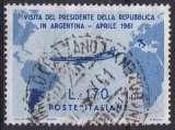 ITALIE 1961 OBLITERE N° 845