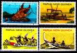 miniature Papouasie Nouvelle Guinée 278 / 81 Embarcations locales