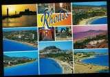 miniature Grèce Carte Postale CP Postcard diverses plages et vues de Rhodes