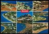 miniature Grèce Carte Postale CP Postcard 9 vues aériennes de Rhodes