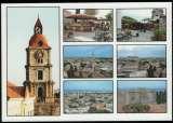 miniature Grèce Carte Postale CP Postcard Roloi Clock Tower Tour de l'Horloge Vieille Ville de Rhodes