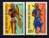 miniature TCHAD -  271/272** - COSTUMES GUERRIERS