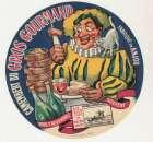 anciennne Etiquette de Camembert du Gros Gourmand  fabriqué en Anjou