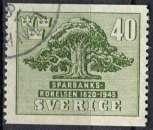 miniature SUEDE 1945 OBLITERE N° 318