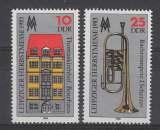 miniature PAIRE NEUVE D´ALLEMAGNE ORIENTALE - FOIRE D´AUTOMNE DE LEIPZIG 1985 N° Y&T 2587/2588