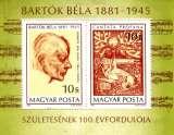 miniature Hongrie Bf 152 100e anniversaire naissance Béla Bartok